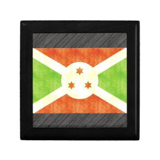 Bandera retra de Burundi del vintage Cajas De Joyas