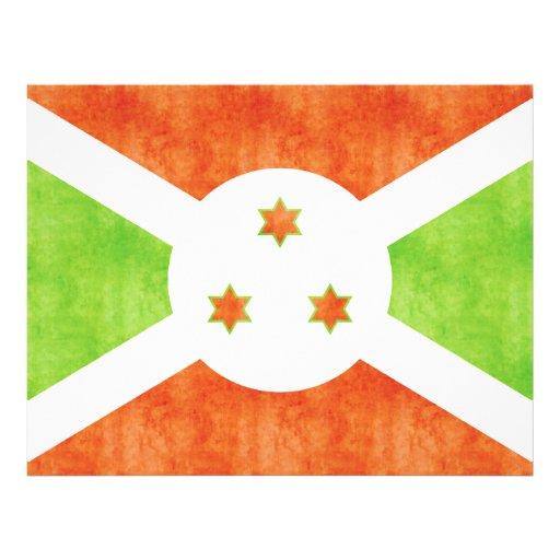 Bandera retra de Burundi del vintage Tarjetas Publicitarias