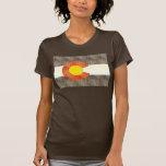 Bandera retra de Colorado del vintage Camisetas