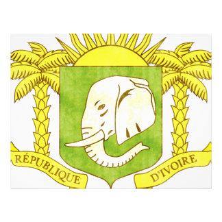 Bandera retra de Costa de Marfil del vintage Tarjeton