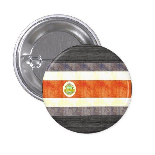 Bandera retra de Costa Rica del vintage Pin Redondo 2,5 Cm