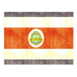 Bandera retra de Costa Rica del vintage Tarjeta Postal