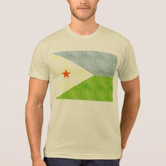 Bandera retra de Djibouti del vintage Camiseta