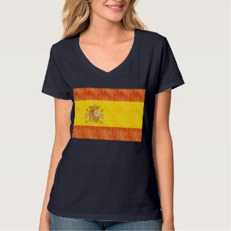 Bandera retra de España del vintage Playera