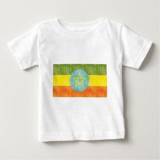 Bandera retra de Etiopía del vintage Playera De Bebé
