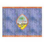 Bandera retra de Guam del vintage Tarjeta Postal