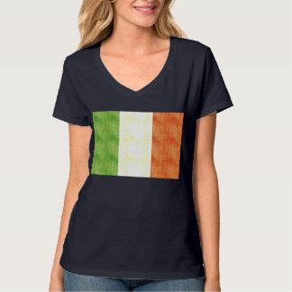 Bandera retra de Italia del vintage Playera