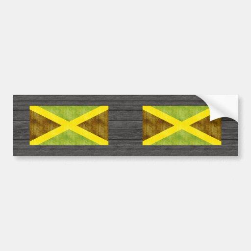 Bandera retra de Jamaica del vintage Pegatina Para Auto