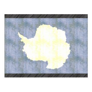 Bandera retra de la Antártida del vintage Tarjeta Postal