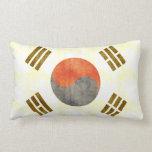 Bandera retra de la Corea del Sur del vintage Almohada