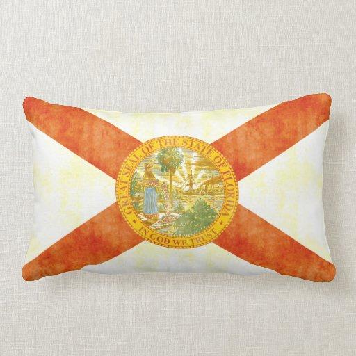 Bandera retra de la Florida del vintage Almohada