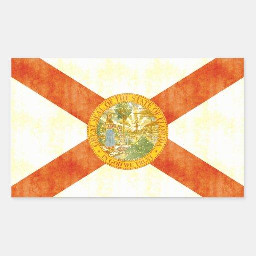 Bandera retra de la Florida del vintage Rectangular Altavoz