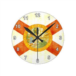Bandera retra de la Florida del vintage Relojes De Pared