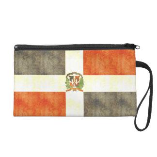 Bandera retra de la República Dominicana del vinta