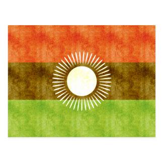 Bandera retra de Malawi del vintage Tarjetas Postales