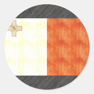 Bandera retra de Malta del vintage Pegatina Redonda