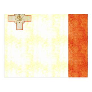 Bandera retra de Malta del vintage Postales