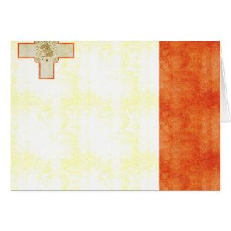 Bandera retra de Malta del vintage Tarjeta De Felicitación