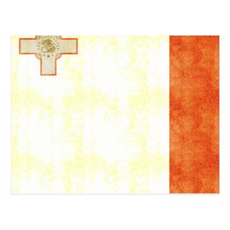 Bandera retra de Malta del vintage Tarjetas Postales