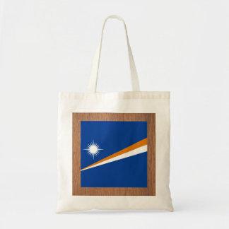 Bandera retra de Marshall Islands Bolsa Tela Barata