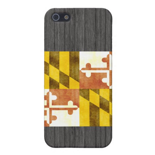 Bandera retra de Maryland del vintage iPhone 5 Carcasa