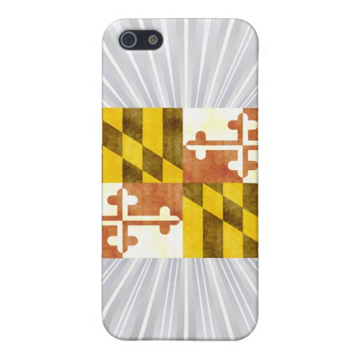 Bandera retra de Maryland del vintage iPhone 5 Fundas