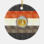 Bandera retra de Missouri del vintage Adorno De Navidad