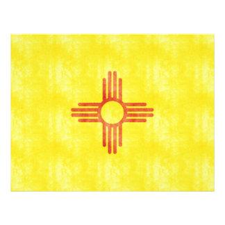 Bandera retra de New México del vintage Tarjetas Informativas