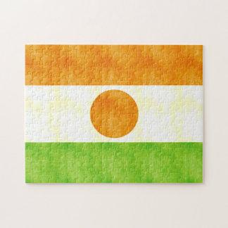 Bandera retra de Niger del vintage Rompecabeza