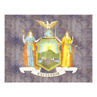 Bandera retra de Nueva York del vintage Tarjeta Publicitaria