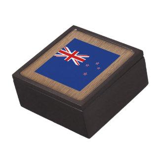 Bandera retra de Nueva Zelanda Caja De Joyas De Calidad