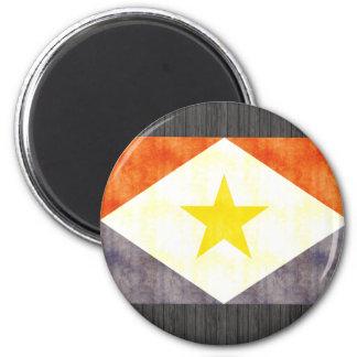 Bandera retra de Saba del vintage Imán Para Frigorifico