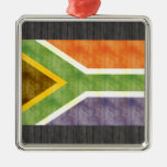 Bandera retra de Suráfrica del vintage Ornaments Para Arbol De Navidad