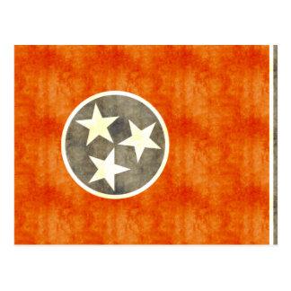 Bandera retra de Tennessee del vintage Postal