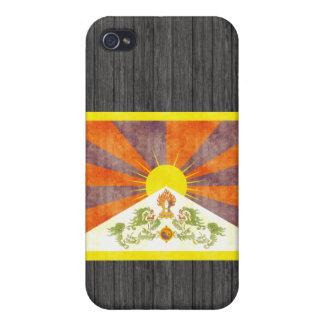 Bandera retra de Tíbet del vintage iPhone 4/4S Carcasa