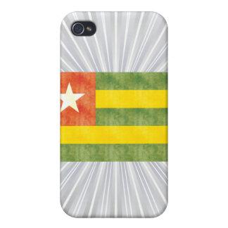Bandera retra de Togo del vintage iPhone 4 Carcasas