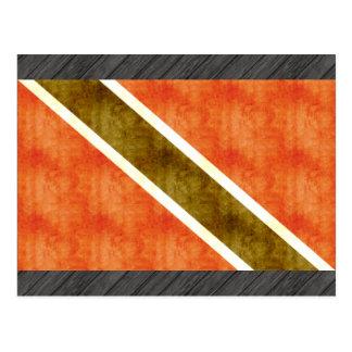 Bandera retra de Trinidad and Tobago del vintage Postales
