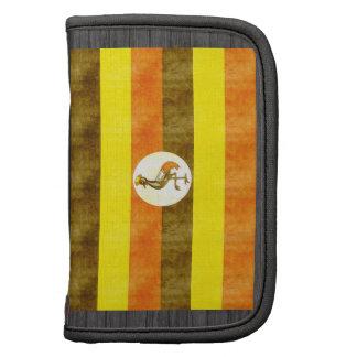 Bandera retra de Uganda del vintage Organizadores