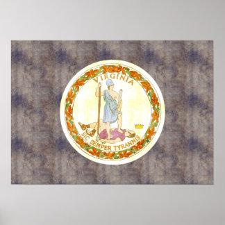 Bandera retra de Virginia del vintage Poster
