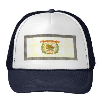 Bandera retra de Virginia Occidental del vintage Gorros Bordados