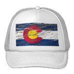 Bandera retra del estado de Colorado del vintage Gorros Bordados