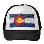Bandera retra del estado de Colorado del vintage Gorras
