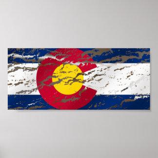 Bandera retra del estado de Colorado del vintage Poster