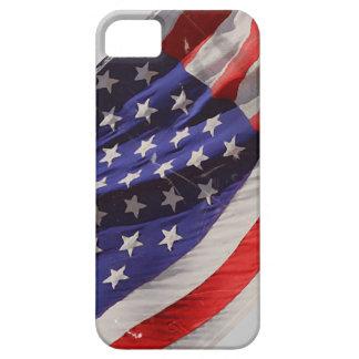 Bandera retra del vuelo del Grunge de América iPhone 5 Case-Mate Protectores