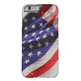 Bandera retra del vuelo del Grunge de América Funda De iPhone 6 Barely There