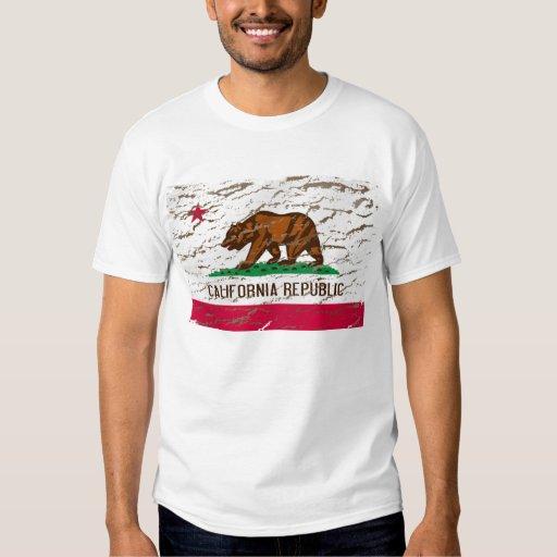 Bandera retra lavada máquina de California Playera