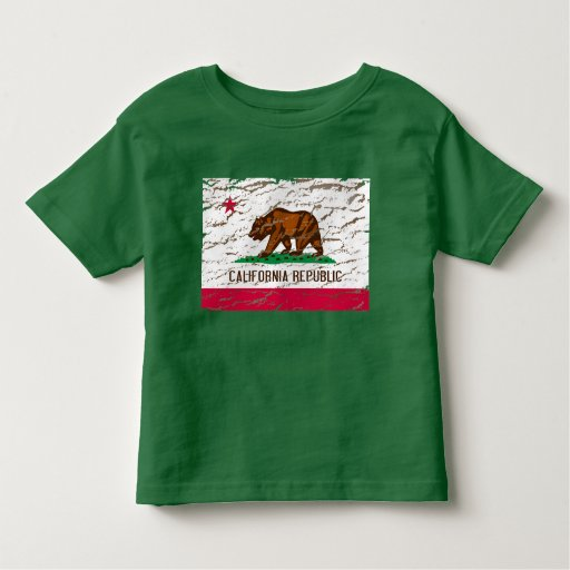 Bandera retra lavada máquina de California Playera De Bebé