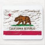 Bandera retra lavada máquina de California Tapete De Raton
