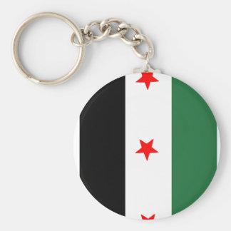 Bandera revolucionaria siria llavero redondo tipo pin