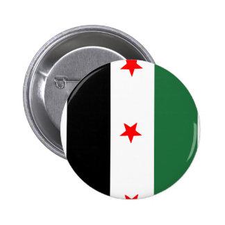 Bandera revolucionaria siria pin redondo de 2 pulgadas